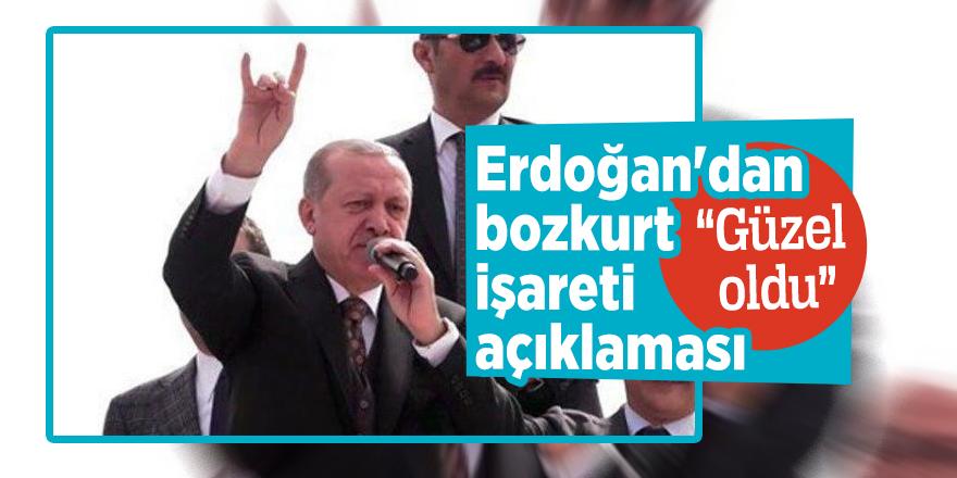 """Erdoğan'dan bozkurt işareti açıklaması""""Güzel oldu"""""""