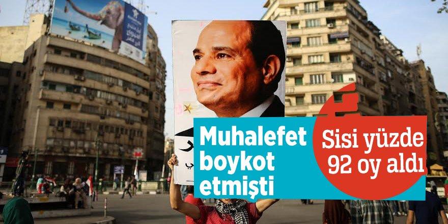 Muhalefet boykot etmişti!Sisi yüzde 92 oy aldı