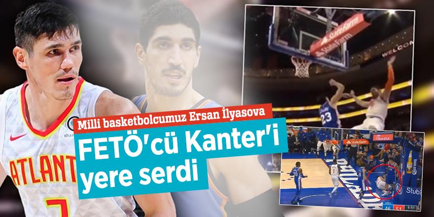 Milli basketbolcumuz Ersan İlyasova FETÖ'cü Kanter'i  yere serdi