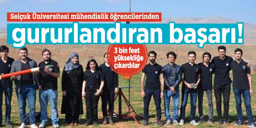 Selçuk Üniversitesi mühendislik öğrencilerinden gururlandıran başarı!