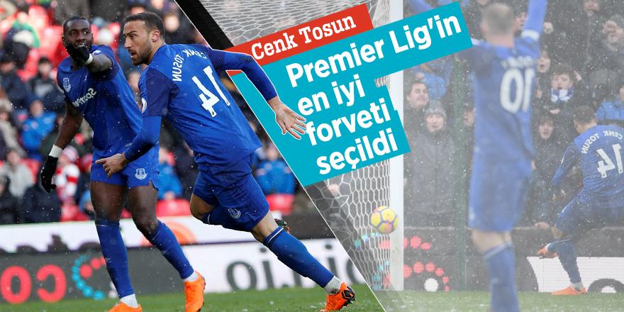 Cenk Tosun Premier Lig'in en iyi forveti seçildi