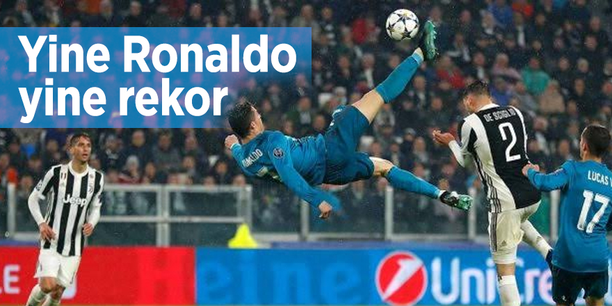 Yine Ronaldo, yine rekor