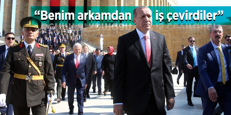 """Cumhurbaşkanı Erdoğan: """"Benim arkamdan iş çevirdiler"""""""