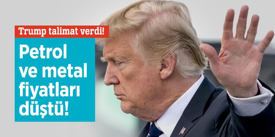 Trump talimat verdi! Petrol ve metal fiyatlarını düştü!