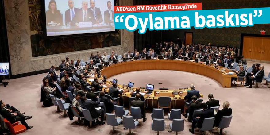 """ABD'den BM Güvenlik Konseyi'nde """"Oylama baskısı"""""""
