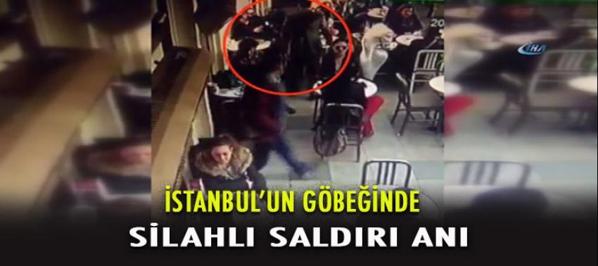 Nişantaşı'nda ünlü cafedeki silahlı saldırı anı