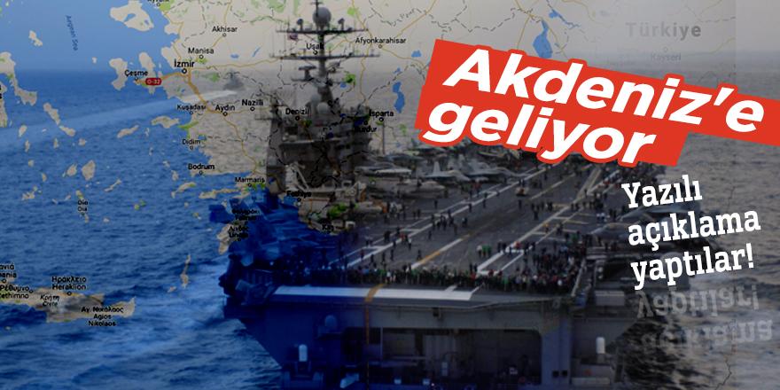Amerikan savaş gemileri Akdeniz'e geliyor