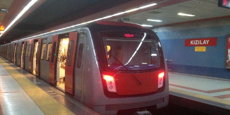 Ankara metrosunda korkutan patlama sesi!