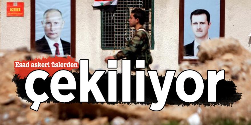 Esad askeri üslerden çekiliyor