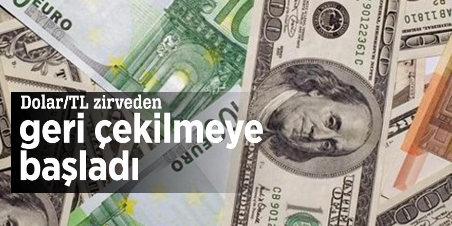 Dolar/TL zirveden geri çekilmeye başladı