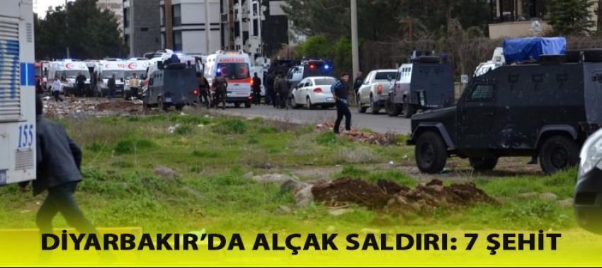 Diyarbakır'da alçak saldırı: 7 polisimiz şehit