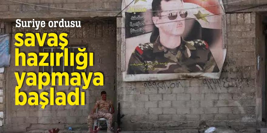 Suriye ordusu savaş hazırlığı yapmaya başladı