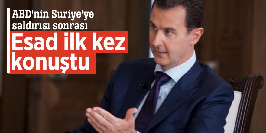 ABD'nin Suriye'ye saldırısı sonrası Esad ilk kez konuştu
