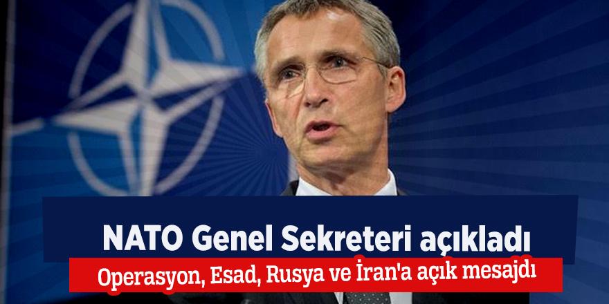 NATO Genel Sekreteri: Operasyon, Esad, Rusya ve İran'a açık mesajdı