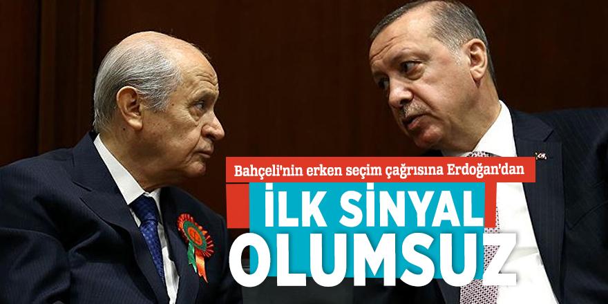 Bahçeli'nin erken seçim çağrısına Erdoğan'dan ilk sinyal olumsuz
