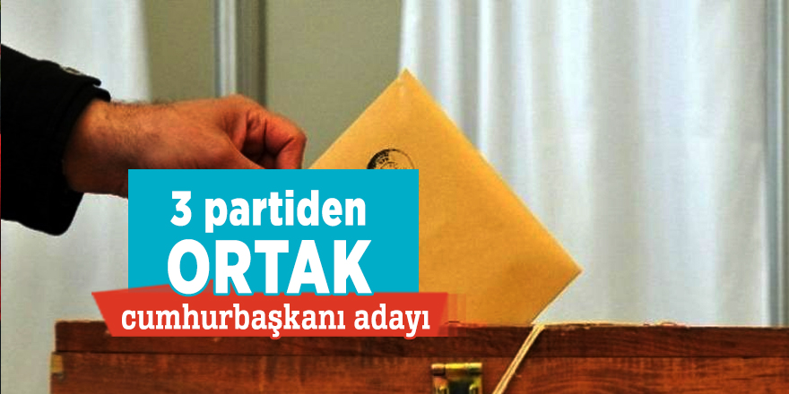 3 partiden ortak cumhurbaşkanı adayı!