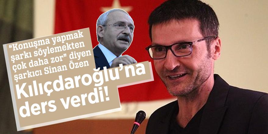 Sinan Özen,Kılıçdaroğlu'na ders verdi