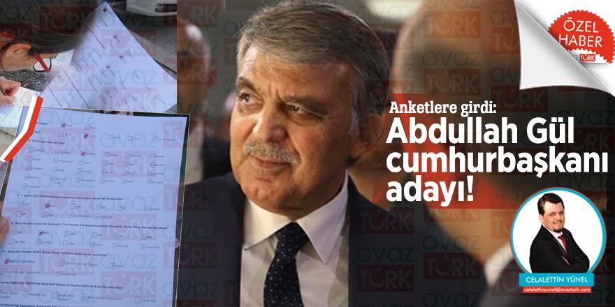Anketlere girdi: Abdullah Gül cumhurbaşkanı adayı!