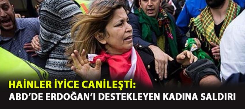 ABD'de Erdoğan'ı destekleyen kadına canice saldırı
