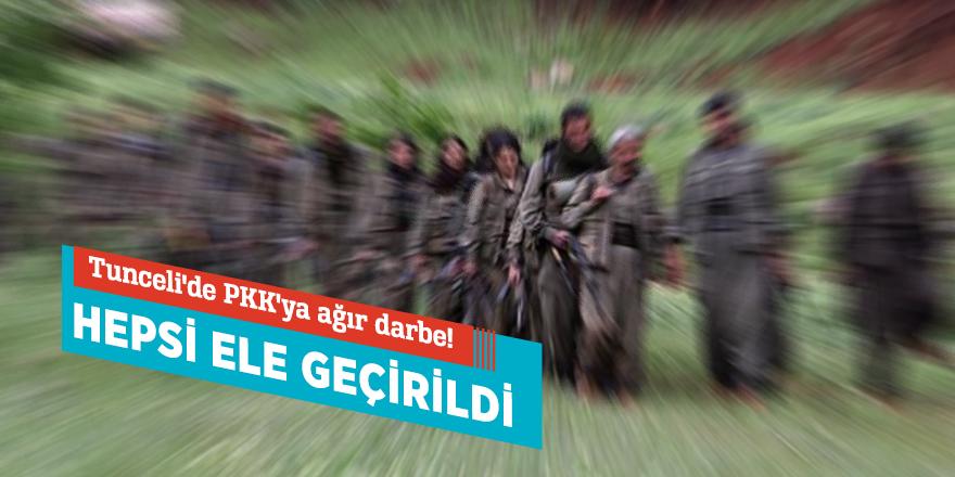 Tunceli'de PKK'ya ağır darbe! Hepsi ele geçirildi