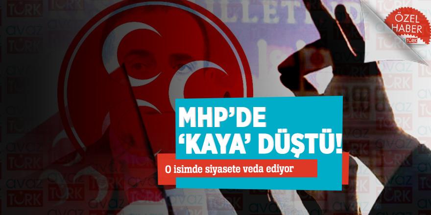 """MHP'de """"KAYA"""" düştü! O isimde siyasete veda ediyor…"""