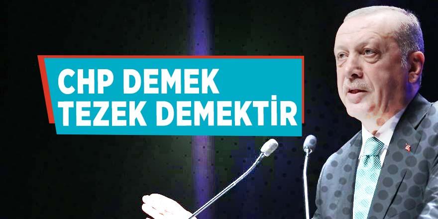 Erdoğan: CHP demek tezek demektir!