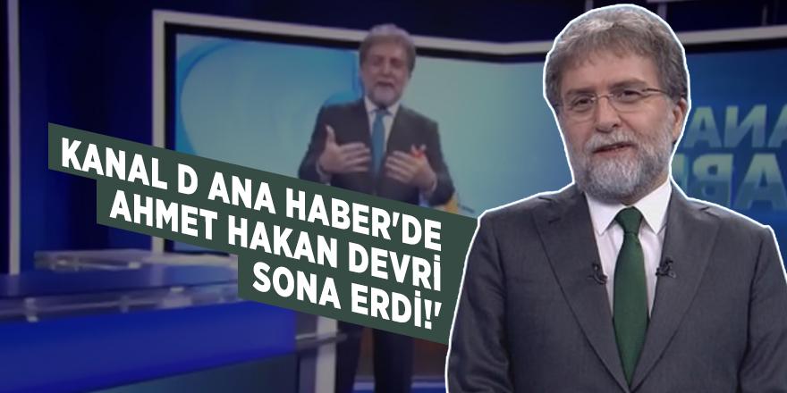 Kanal D Ana Haber'de Ahmet Hakan devri sona erdi!