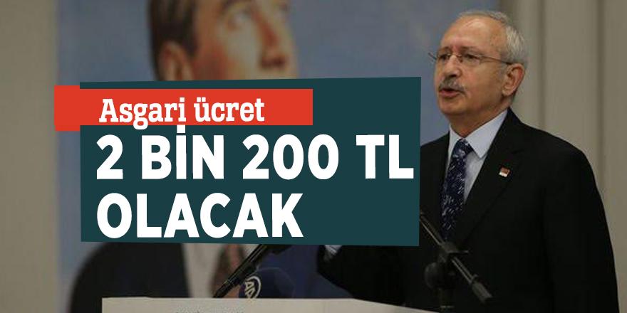 CHP'nin seçim vaatleri! Asgari ücret 2 bin 200 TL olacak
