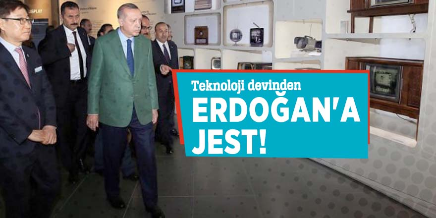 Teknoloji devinden Erdoğan'a jest!