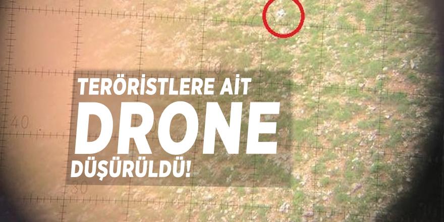 Teröristlere ait drone düşürüldü!