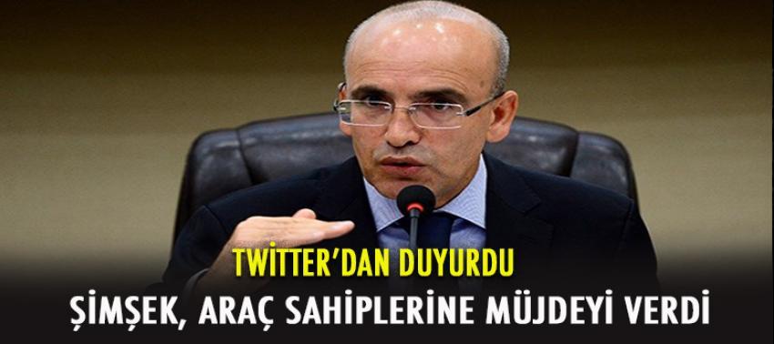 Mehmet Şimşek Araç sahiplerine müjdeyi verdi