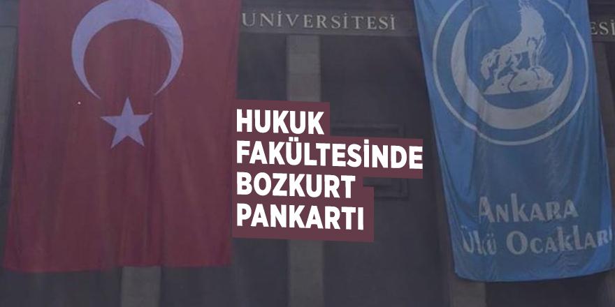 Hukuk fakültesinde Bozkurt pankartı