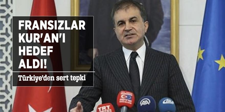 Fransızlar Kur'an'ı hedef aldı! Türkiye'den sert tepki