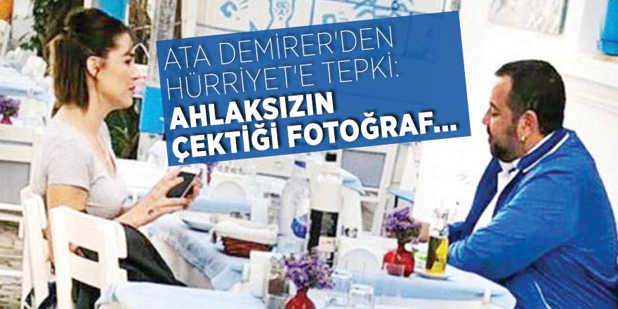 Ata Demirer'den Hürriyet'e tepki: Ahlaksızın çektiği fotoğraf...