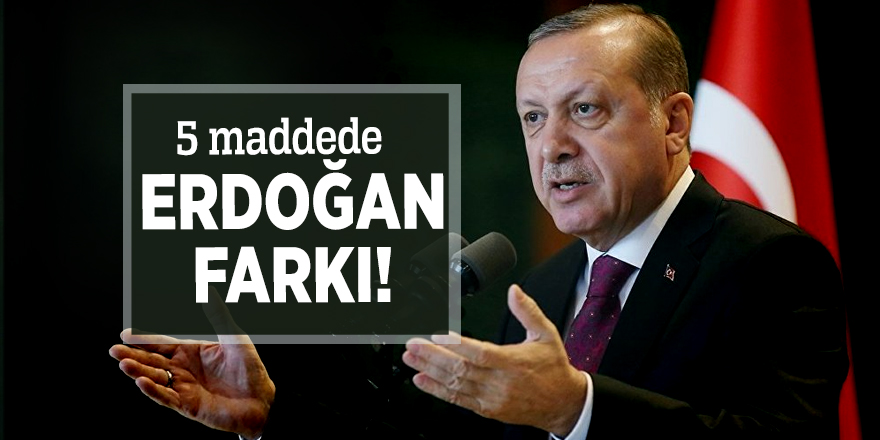 5 maddede Erdoğan farkı!