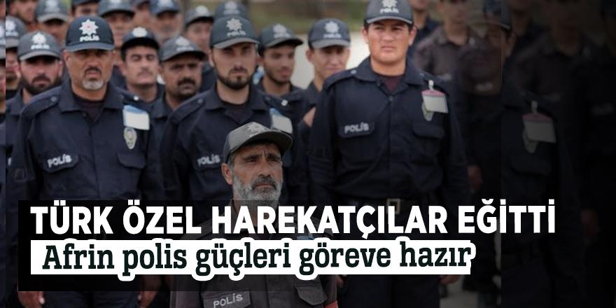 Türk özel harekatçılar eğitti! Afrin polis güçleri göreve hazır