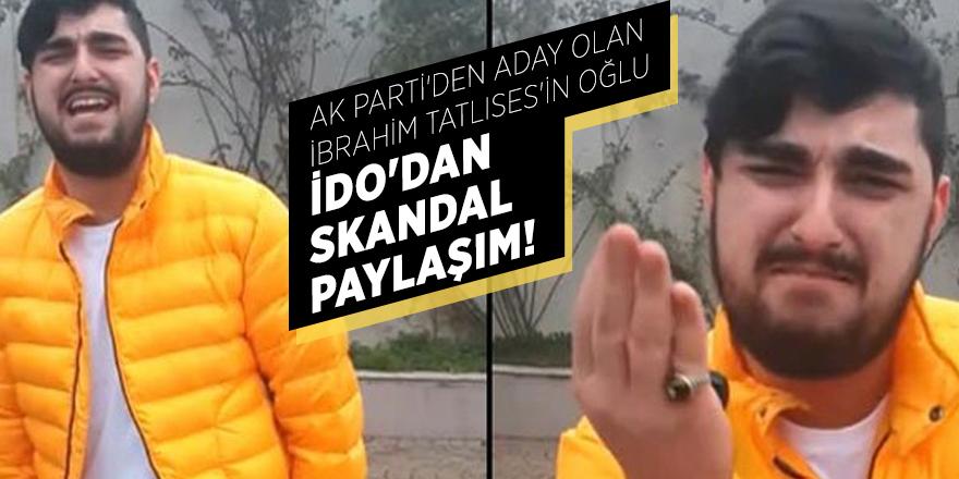 AK Parti'den aday olan İbrahim Tatlıses'in oğlu İdo'dan skandal paylaşım!
