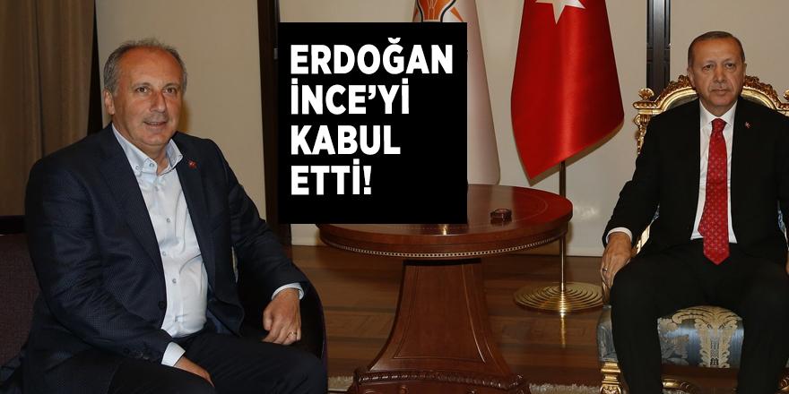 Cumhurbaşkanı Erdoğan,  İnce'yi kabul etti