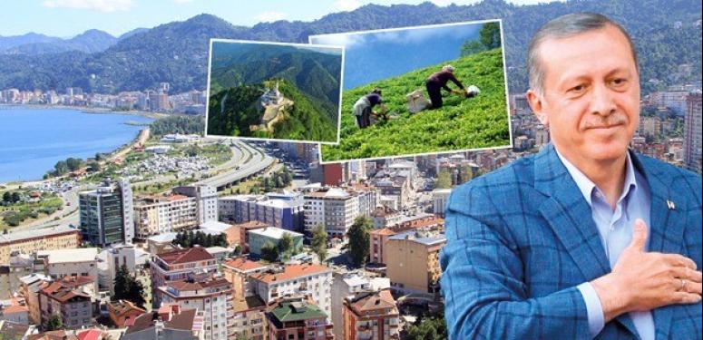 Cumhurbaşkanı Erdoğan memleketi Rize'yi kaleme aldı
