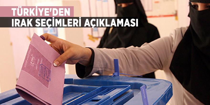 Türkiye'den Irak seçimleri açıklaması