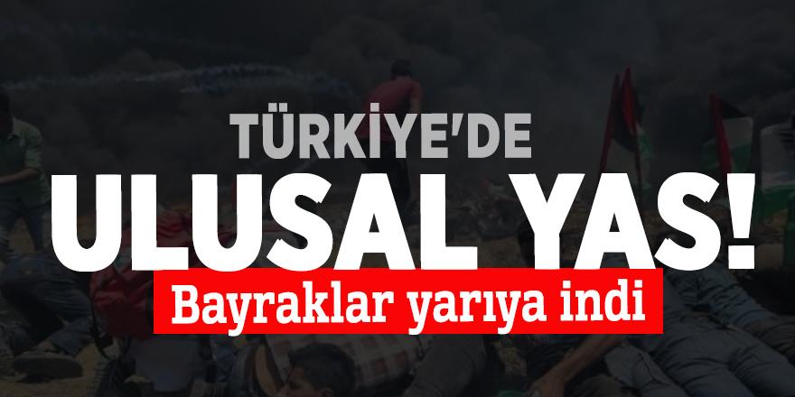 Türkiye'de ulusal yas! Bayraklar yarıya indi