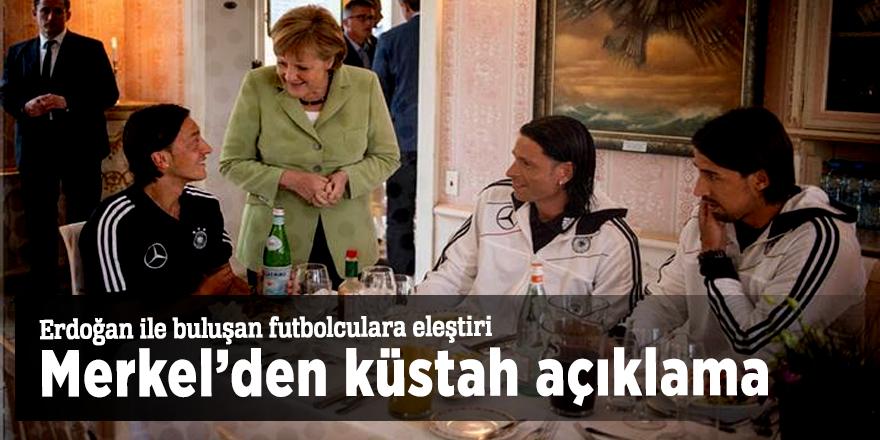 Erdoğan ile buluşan futbolculara eleştiri! Merkel'den küstah açıklama