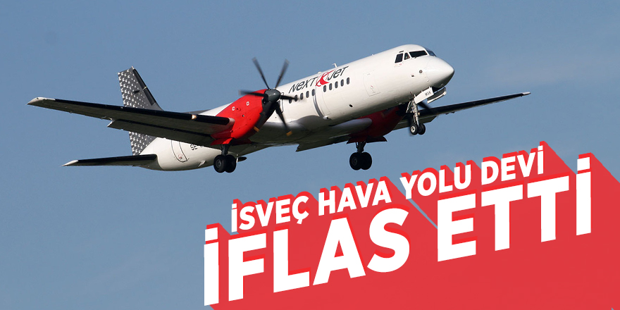 İsveç hava yolu devi iflas etti