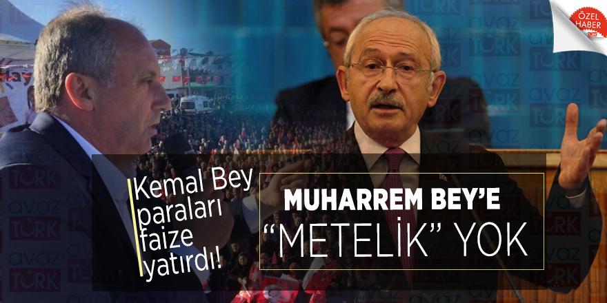 """Kemal Bey paraları faize yatırdı! Muharrem Bey'e """"metelik"""" yok"""