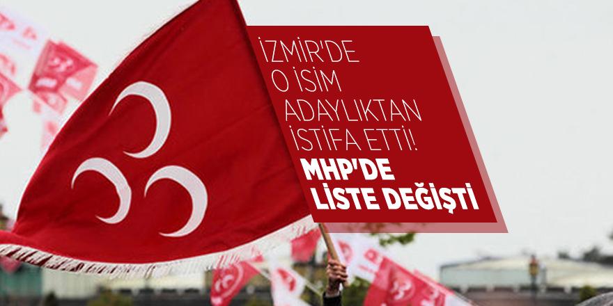 İzmir'de o isim adaylıktan istifa etti! MHP'de liste değişti