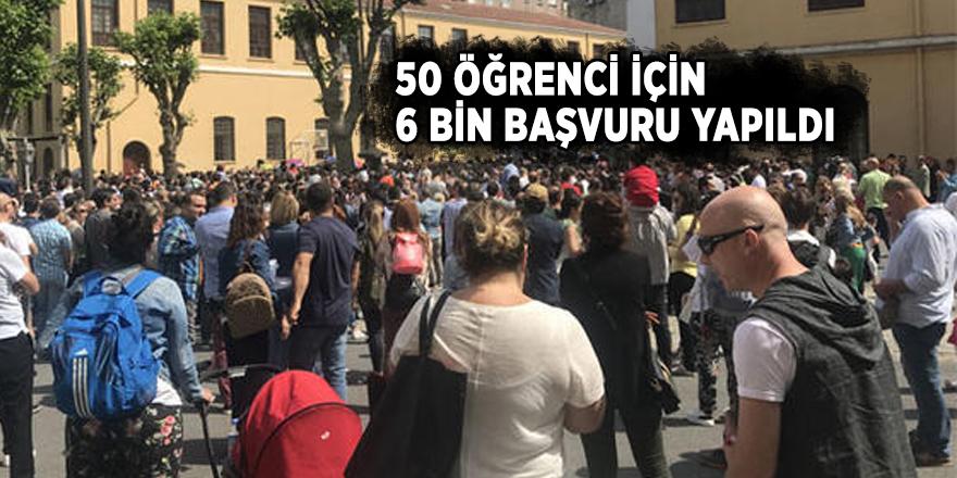 Tarihi okula alınacak 50 öğrenci için 6 bin başvuru yapıldı