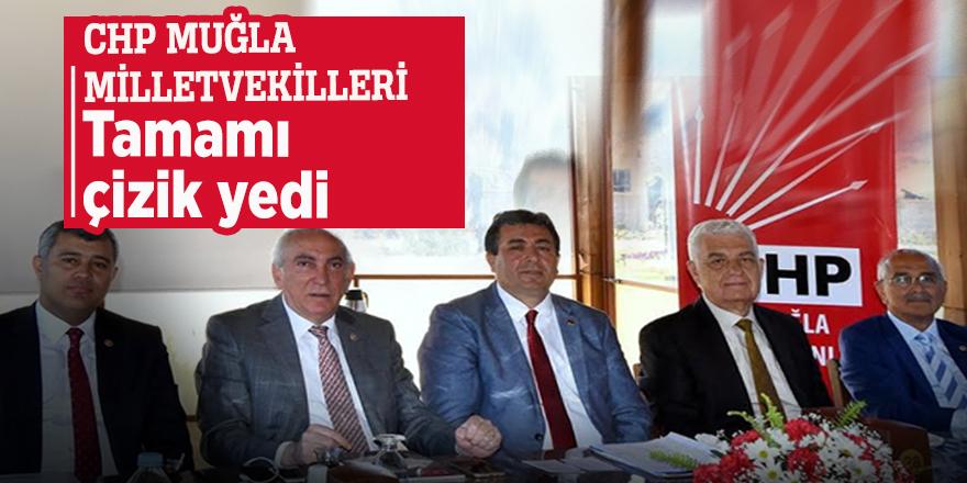 CHP Muğla milletvekilleri... Tamamı çizik yedi