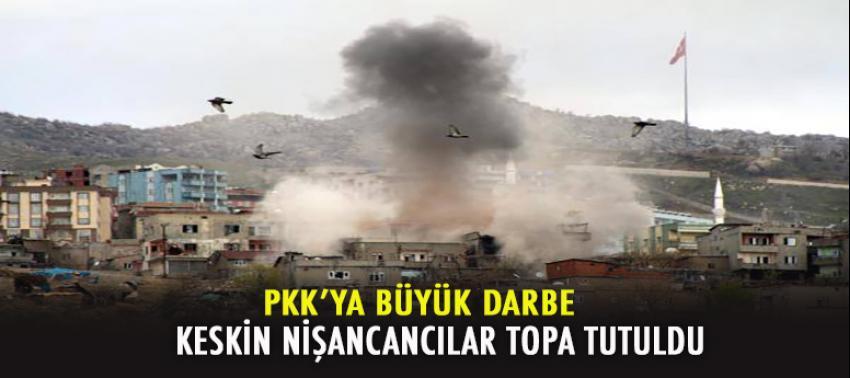 PKK'lı keskin nişancılara topa tutuldu!