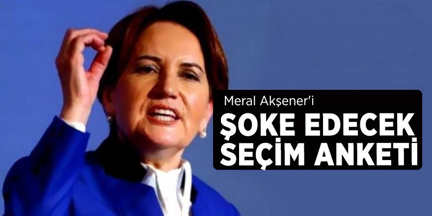 Meral Akşener'i şoke edecek seçim anketi!