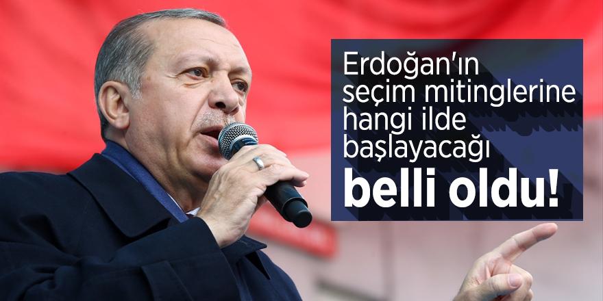 Cumhurbaşkanı Erdoğan'ın seçim mitinglerine hangi ilde başlayacağı belli oldu!